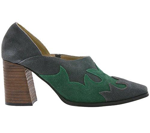 Bottines Courtes en Cuir Véritable Femme Gris Andrea Conti Chaussures