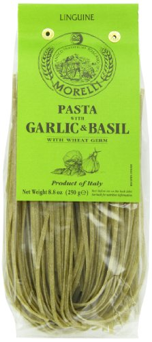 Morelli Wheat Germ Linguine, Garlic and Basil, 8.8 Ounce