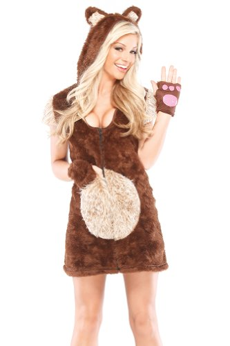 Coquette Women's Teddy Bear Girl, Brown/Tan,