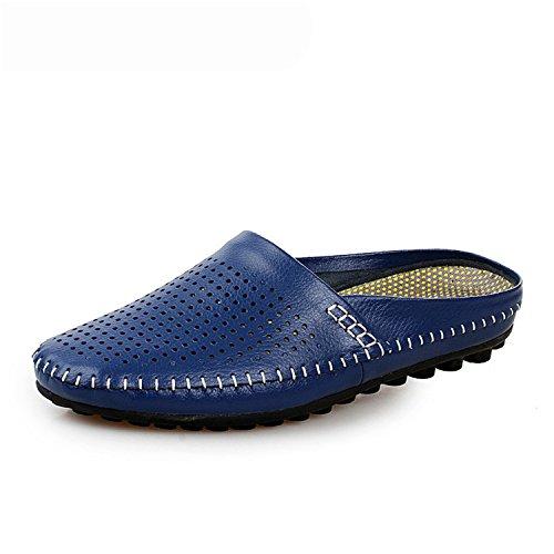 Ahueca Piso De Botia Sandalias Hacia Cordones Chanclas Respirables Playa Azul Zapatillas Con Verano Hombre Fuera wFEqnPEIB