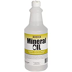 Premium 100% Pure Food Grade Mineral Oil USP, 1 Quart (32 Ounces), Butcher Block and Cutting Board Oil