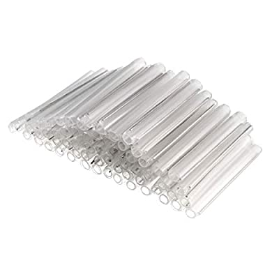 uxcell OD Fiber Optic Fusion Splice Tube Protector Sleeves, Clear Heat Shrinkable, 2 Pins, Part