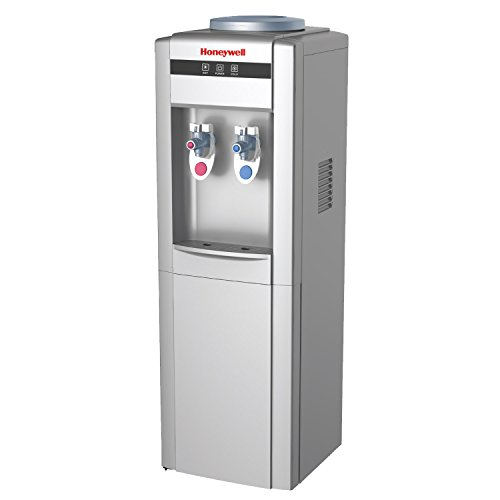 Honeywell HWB1052S2 38-Inch Cabinet Freestanding Hot and Cold Water Dispenser with Stainless Steel Tank to help improve water taste, Back Handle for EASIER HANDLING, Silver by Honeywell