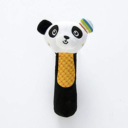 Newborn Baby Infant Cute Animal Handbells Rattle Developmental Bed Bell Toy Lovely Ty Gifts Stuffed Plush One Piece (Black)