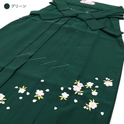 後促進する主張桜刺繍入り 袴 単品 f-999 (S M L LL エンジ ネイビー グリーン パープル はかま 無地 卒業式 レディース 女性)