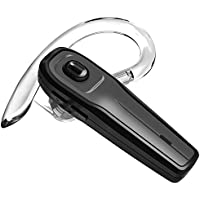 Bluetooth Headset, Wismat Wireless Earpiece, In-Ear Piece Hands Free Earbuds Headphone w/ Mic, Mute Switch and Noise Cancelling Mic for Driving call