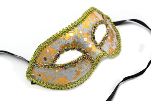Fasching Maske Glamour Glitzer Braziliano Gesichtsmaske In Weiss