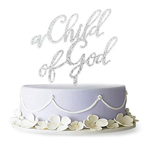 Firefairy(TM A Child of God Acrylic Cake Topper for Baptism, Christening, Dedication or First Communion Decorations -