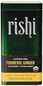 Rishi Tea Turmeric Ginger Organic Herbal Blend, Loose Leaf, 2.4 Ounce