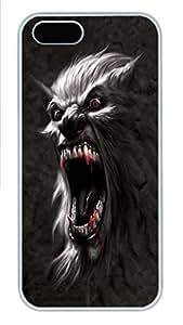 IPhone 5/5S Case Werewolf Battlecry PC Hard Plastic Case for iPhone 5/5S Whtie
