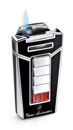 (Tonino Lamborghini Aero Black Torch Flame Cigar Lighter)