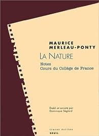 La nature par Maurice Merleau-Ponty
