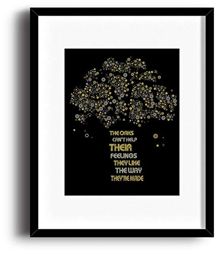 The Trees - Song Lyric Poster Classic Rock Music Inspired Print - Wall Decor Poster Illustration