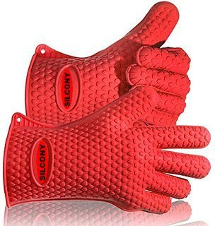 Silcony Amazing Pair of Pure Silicone Heat Resistant Insulated Waterproof Cooking & Grill Gloves - Perfect for BBQ, Grilling, Potholder, Meat Handling, Camping, Pickling & So Much More... (Pure Silicone Grill compare prices)