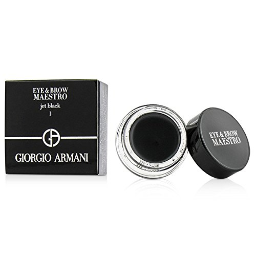 一貫したフルーティー流ジョルジオアルマーニ Eye & Brow Maestro - # 1 Jet Black 5g/0.17oz並行輸入品