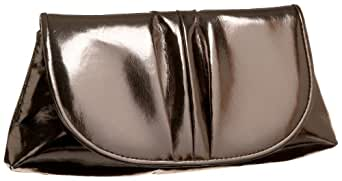 La Regale Metallic Clutch,Pewter,One Size