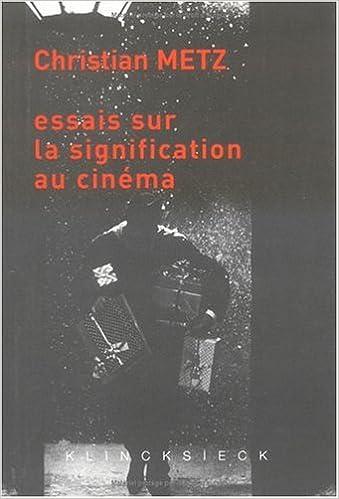Livre Essais sur la signification au cinema  ed 2002 (t.1 et 2) pdf ebook