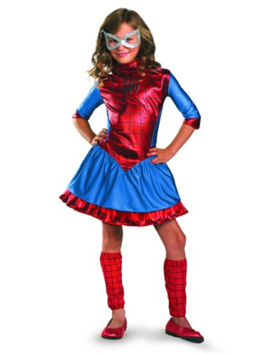 Child Deluxe Spidergirl Costumes (Spider-Girl Costume - Small)