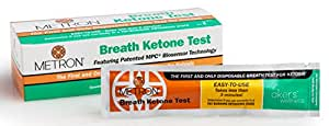 Disposable Breath Ketone Test - Ketosis Analyzer for Fat Burning, Diets & Weight Loss - No Testing Strips & No Blood or Urine Samples Required - Best Easy-to-Use Ketogenic Monitor by METRON - 10 Pack