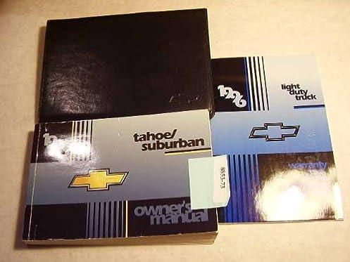1996 chevrolet tahoe suburban owner s manual chevrolet amazon rh amazon com 1996 chevrolet suburban owners manual 1997 Chevrolet Suburban