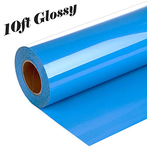 guangyintong Adhesive PVC Heat Transfer Vinyl Roll 12 Inch X 10 Feet (Light Blue K9)
