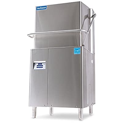 Jackson DynaTemp(40-70) Door Type Dishwasher, High Temperature Sanitizing with Built-In Booster Heater, 57 Racks Per Hour