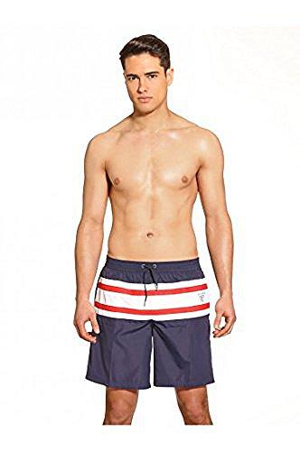 Short De Bain Guess Essential Stripes Bleu Marine