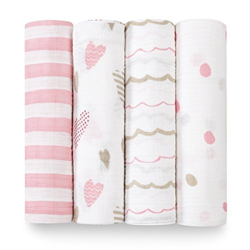 aden + anais swaddle 4 pack; heartbreaker