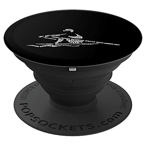 Rower Word Art Rowing Kayaking Canoe Watersports PopSockets Grip and Stand for Phones and Tablets