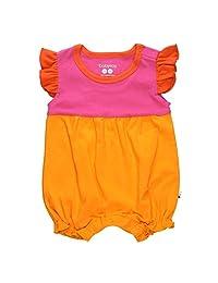 Babysoy Baby Girl Color Block Princess Romper