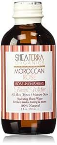 Shea Terra Organics Moroccan Rose Rose-Plenishing Facial Water 4 oz (138 ml)