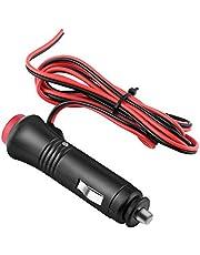 Auto Mannelijke Sigarettenaansteker Plug Adapter Outlet Extender, Auto Sigarettenaansteker Verlengkabel Met Aan-Uit Schakelaar Knop