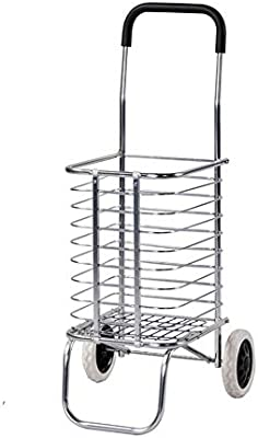 LPYMX Carro de Compras Plegable de Aluminio, Carrito de Compras portátil Viejo Carrito de Compras - Carrito Plegable