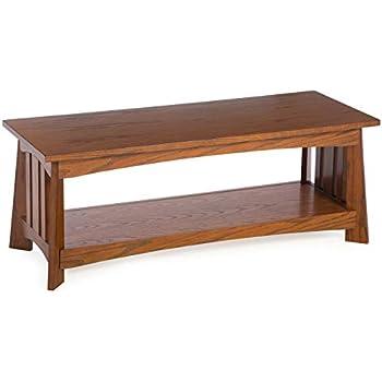 Amazon Com Traditional Oak Wood Bench Classic Mission