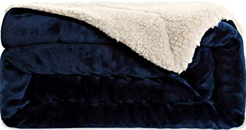 SNUZZZZ Sherpa Blanket Throw for Travel, Picnic, Camping | Thermal Comfy Minky Furry Soft Warm Fleece Thick Fuzzy for Bed Couch - Velvet Place Sofa Park