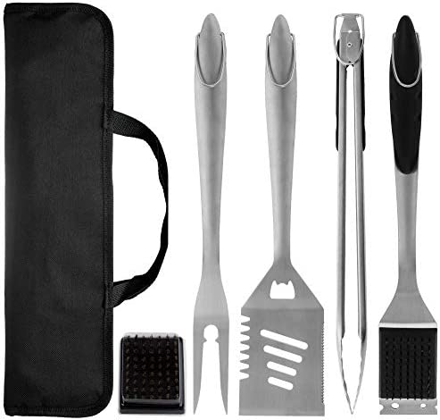 BIANTI Stainless steel barbecue tool set of 4 sets portable portable cloth bag barbecue tool