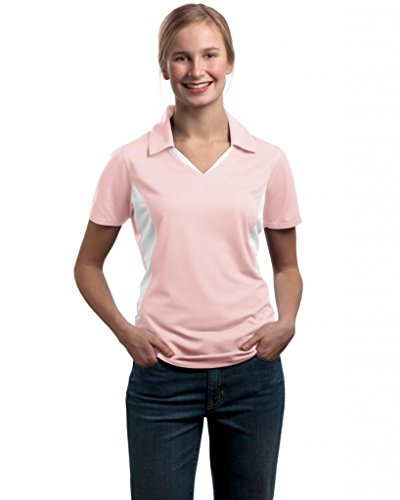 Sport-Tek -  Polo  - Donna Rosa chiaro/bianco Medium