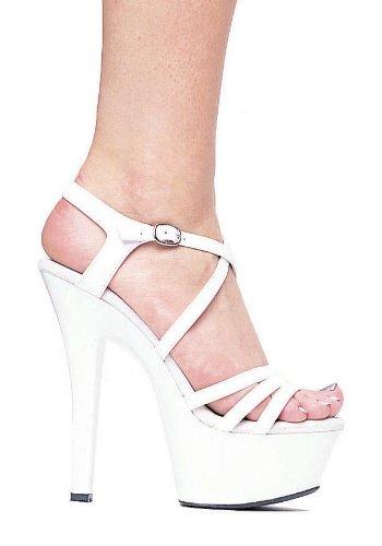 Ellie Chaussures Femmes 601-rêveur Sandales Blanches 5 B (m) Us