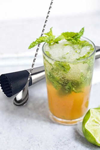 Cocktail Muddler & Cocktail Spoon | Muddler Bar Set | Bar Spoon | Muddler whisky | Barspoon | Old Fashion Muddler | Muddler Mojito | Lime Muddler | Stainless Steel Muddler | Cocktail Stirring Spoon