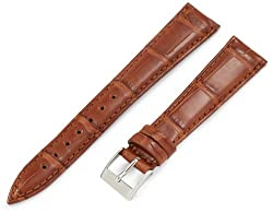 Artisan of Italy AITPD600S-1418MR Men's Dress Padded Matte Alligator 18mm Cognac Special Taper Watch Strap