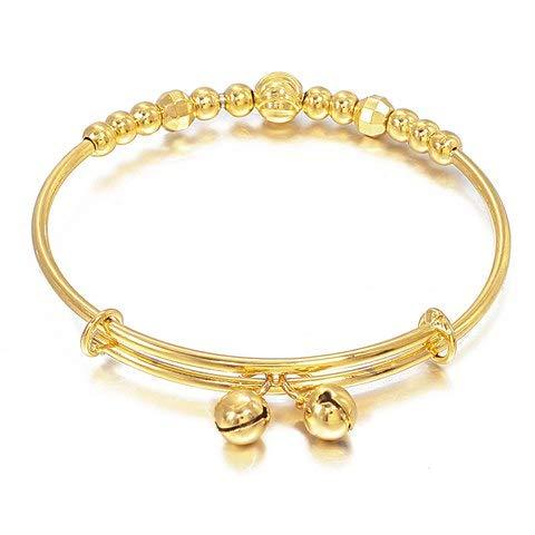 Lovely Charm Small Harmony Beads Bell Heart Gold Bracelets
