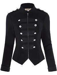 Womens Victorian Steampunk RingmasterJacket Military Blazer KK464