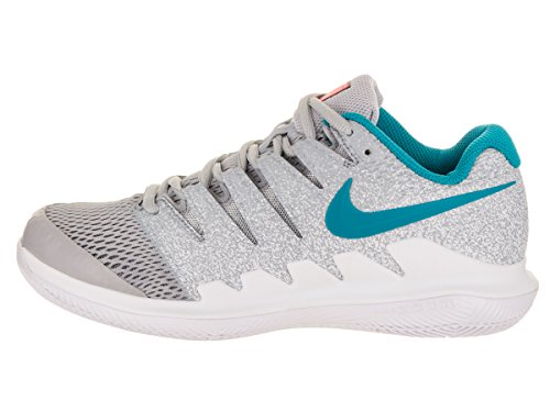 Nike Dame Zoom Damp X Tennissko Ulv Grå / Blå Stjernetåge / Hot Lava / Hvid nOzHVky