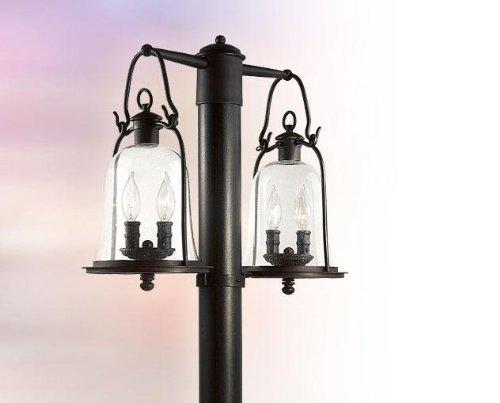 (Four Light Natural Bronze Post Light)