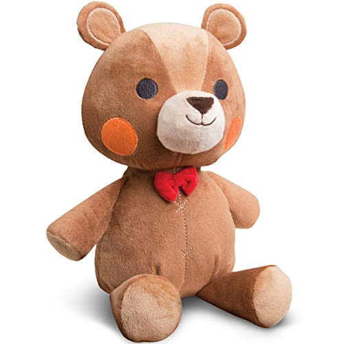 (FAO Schwarz Baby Bear Toy Plush 10 Inches, Ultra Soft and Snuggly Doll for Creative and Imagination Play, for Boys, Girls, Children Ages 3 and Up, Playroom & Nursery Pretend Pet)