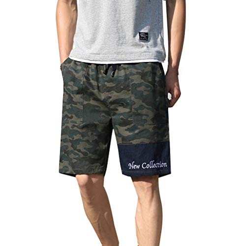 Giulot Young & Adult Classic Fit Camo Cargo Short with Letter Print Premium Relaxed Fit Twill Short Pants