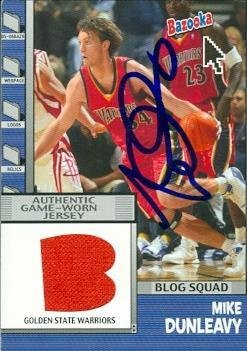 Mike Dunleavy autographed Basketball Card (Golden State Warriors) 2005 Topps Bazooka Game Worn Jersey #BBS-MDU