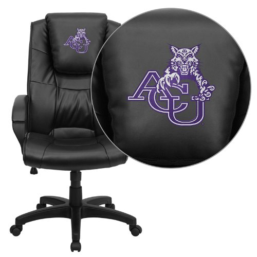 Flash Furniture Abilene Christian University Wildcats Embroidered Black Leather Executive Office Chair
