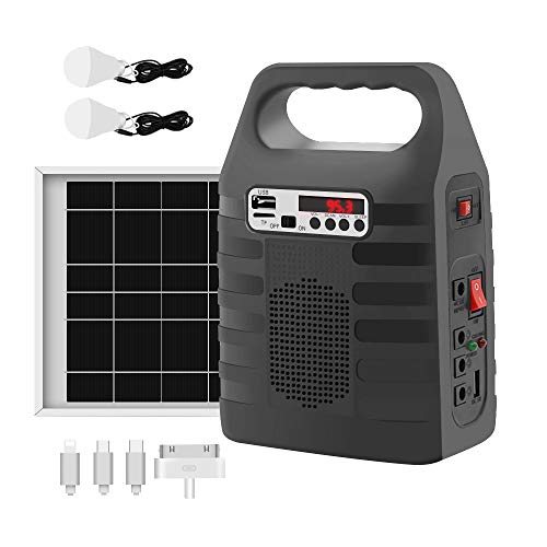 Portable Solar Generator,Portable Solar Generator with Solar Panel,Solar Power Generator Kit,Camping...