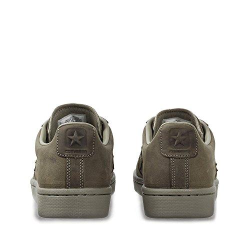 Converseer Pro Lederen Herfst Mono Low Top Sneakers Kaki
